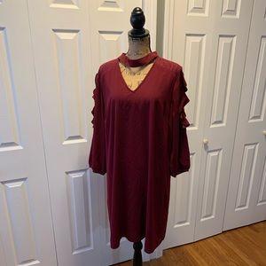Boutique brand 1XL burgundy dress